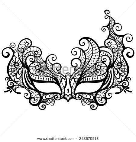 venetian mask silhouette at getdrawings com free for personal use