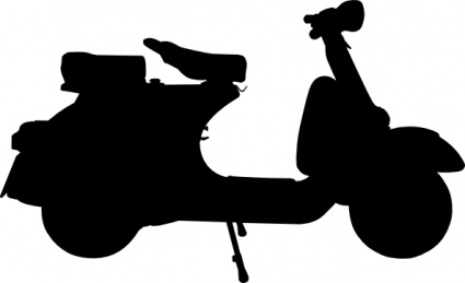 425x259 Two Silhouette Cartoon Transportation Bike Motorcycle Logo Piaggio