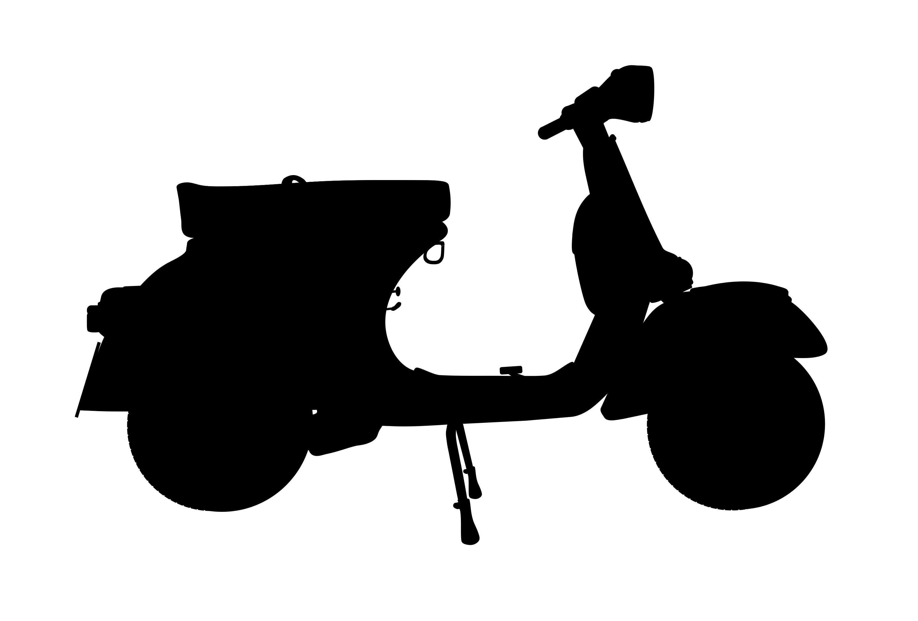 Vespa Silhouette At Getdrawings Com Free For Personal