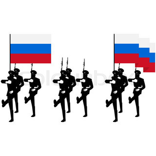 320x320 Honor Guard Silhouette Stock Vector Colourbox