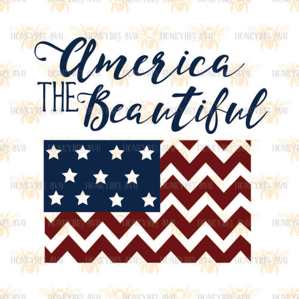 1000x1000 America The Beautiful Chevron Flag Svg Patriotic Svg 4th Of July
