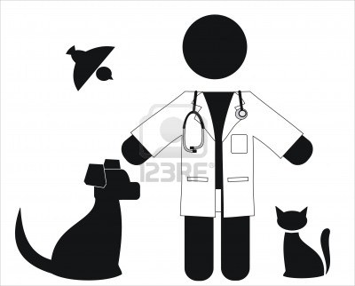 400x322 Vet Black And White Clipart