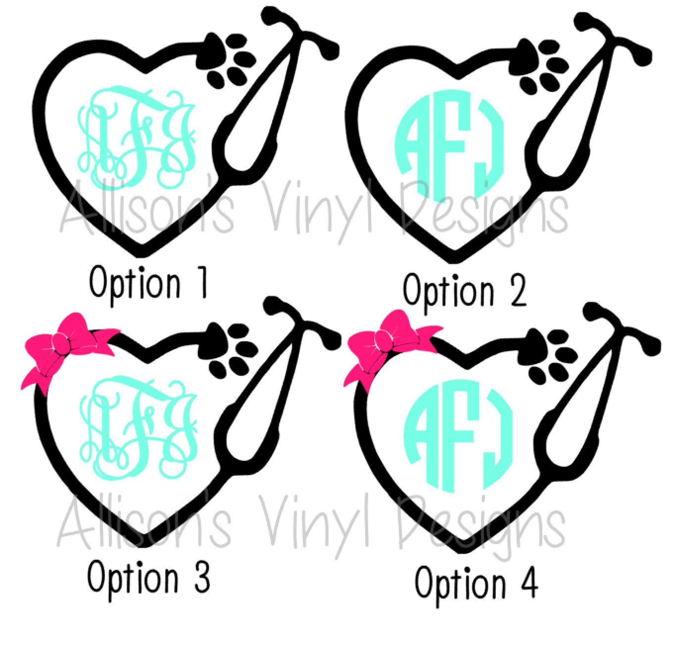 1362x1306 Veterinarian Animal Monogram Cuttable Designs Svg Files