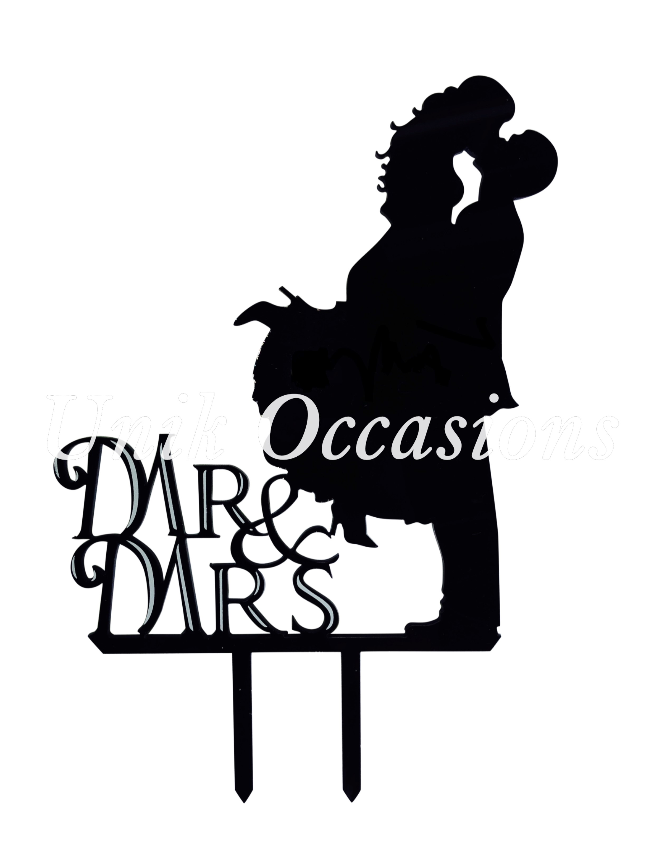 2448x3264 Unik Occasions Kissing Couple Silhouette Acrylic Cake Topper
