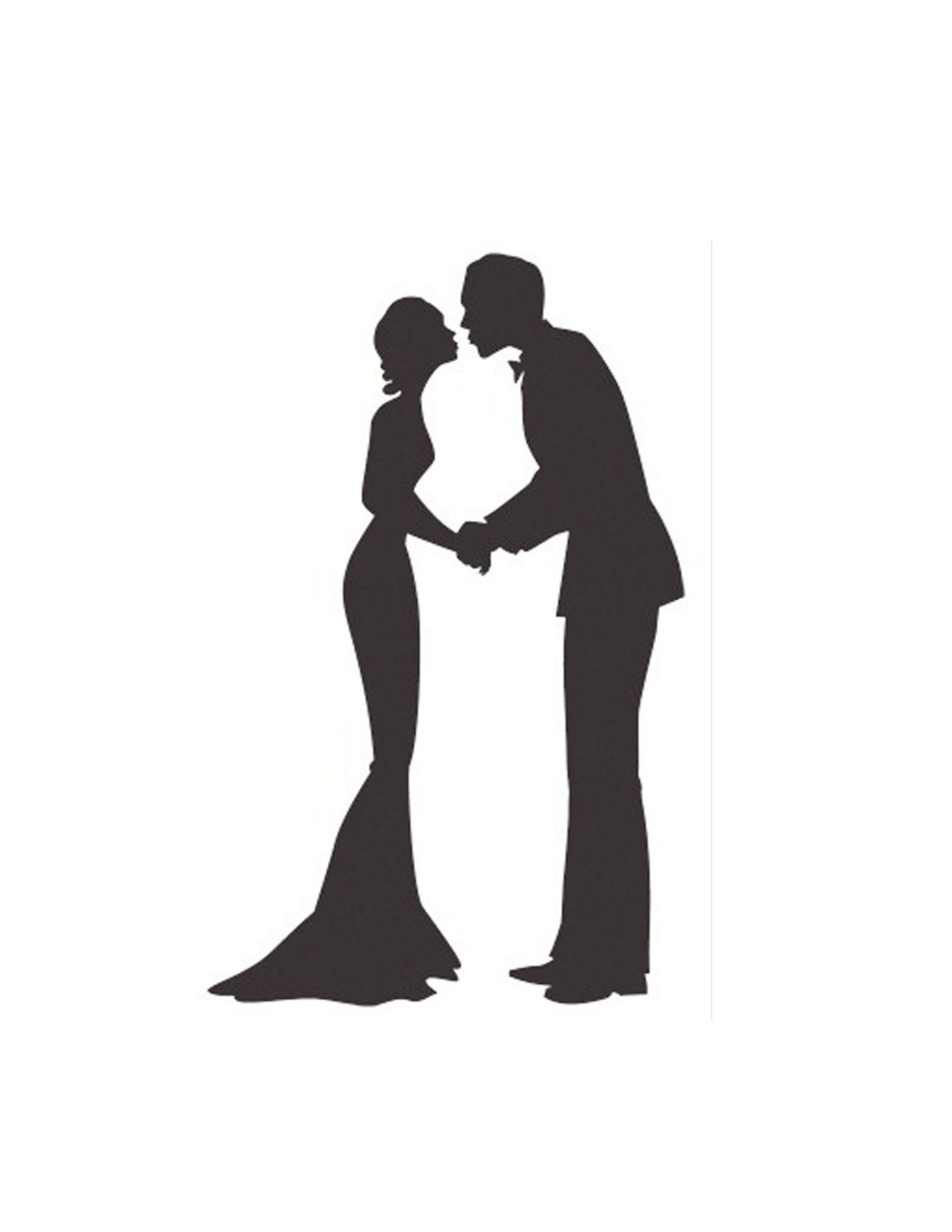 1159x1500 Married Couple Silhouette Clipart