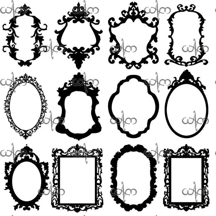 736x736 Victorian Frame Clipart 101 Clip Art