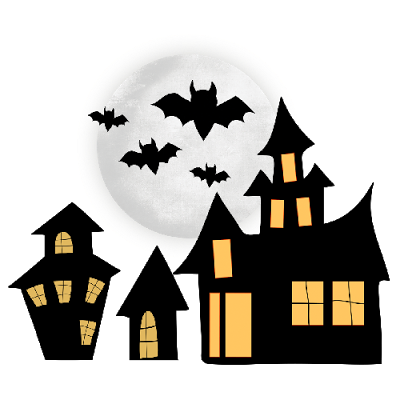400x400 Haunted Clipart Spooky House