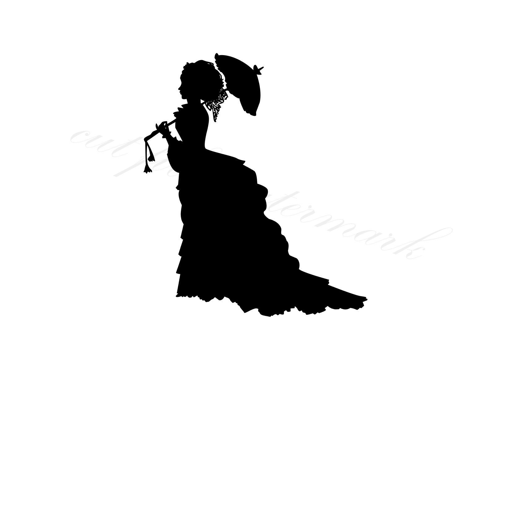 1650x1650 Victorian Lady Cut Files Svg Amp Studio 3 File For Silhouette