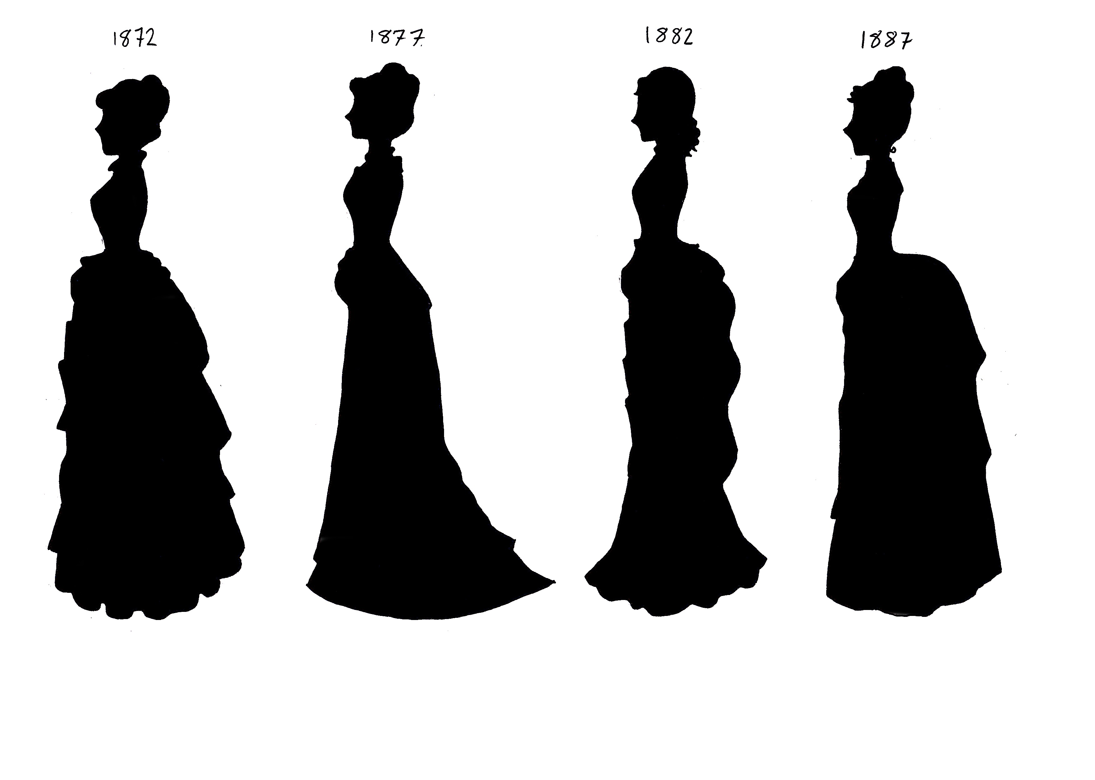3504x2496 Victorian Silhouettes 1872 87