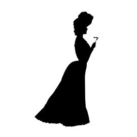270x270 Victorian Woman Silhouette Stencil Free Stencil Gallery