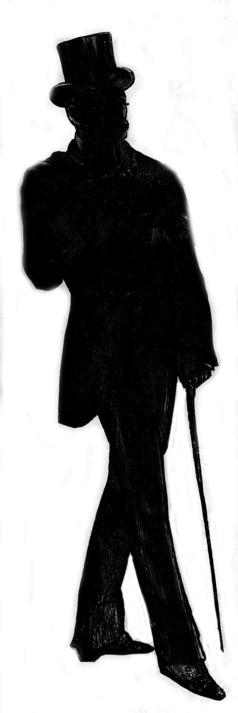 Victorian Man Silhouette