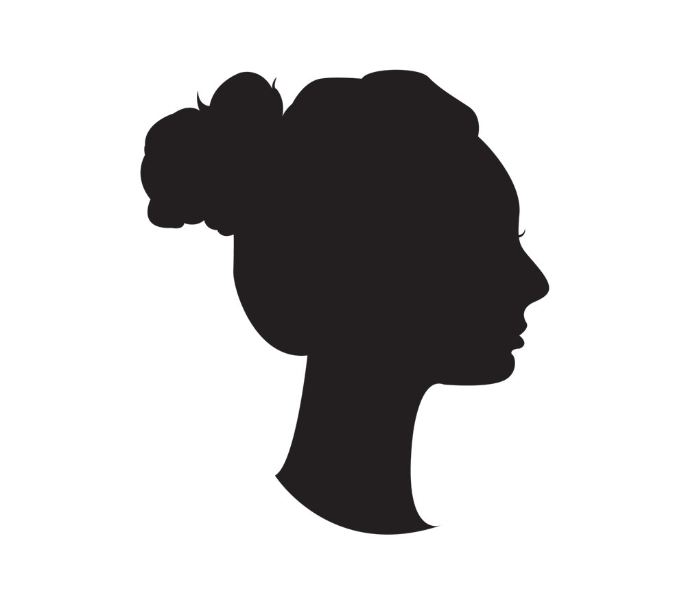 1000x881 Victorian Bust Silhouette
