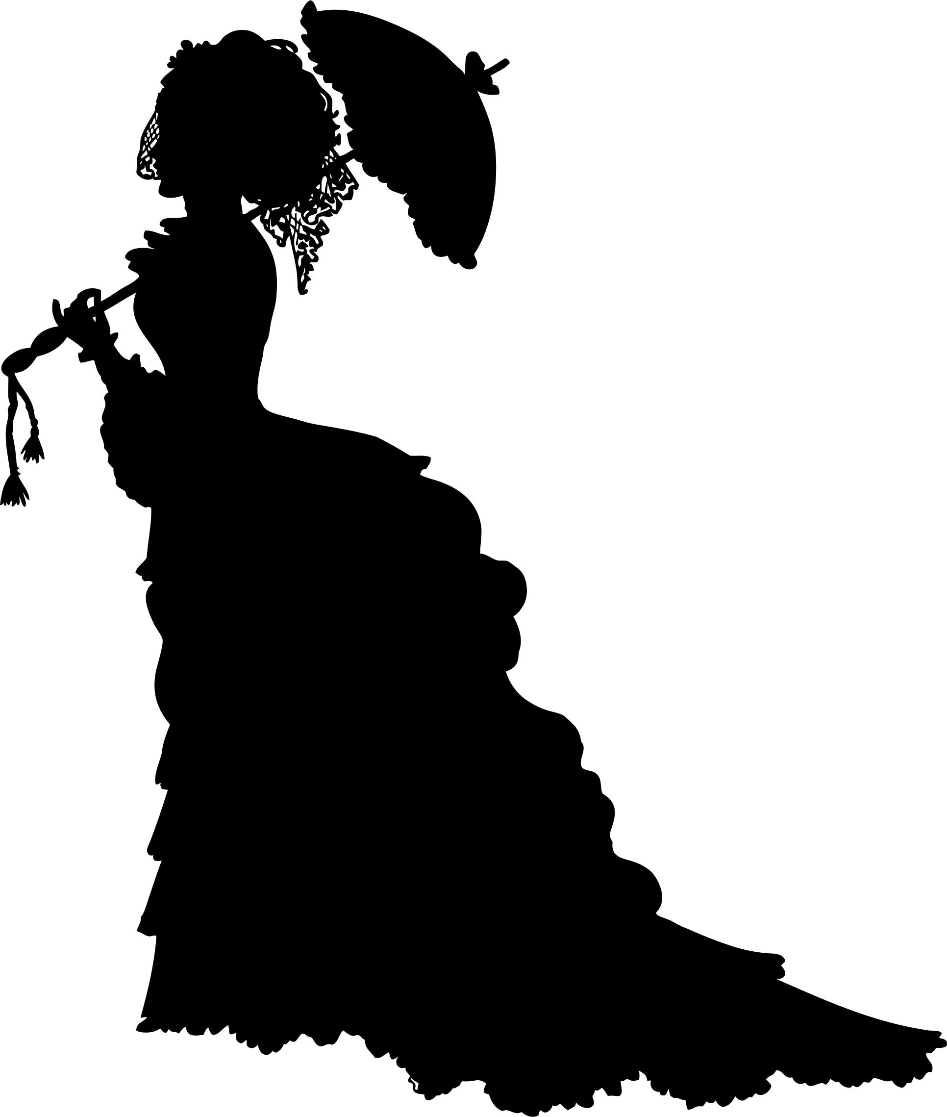 1932x2278 Vintage Victorian Lady Silhouette Icons Png
