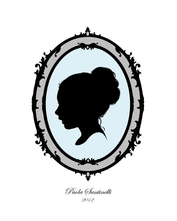 570x713 Custom Child Portrait, Personalized Silhouette With Victorian