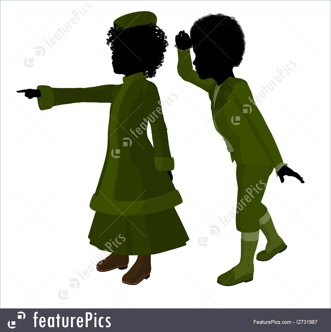 1300x1305 Silhouettes And Outlines Victorian Children Art Silhouette