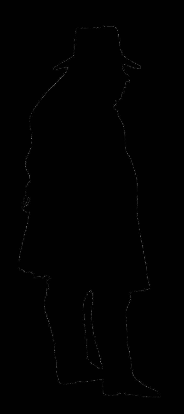 768x1723 Victorian Era Silhouette Gentleman Clip Art