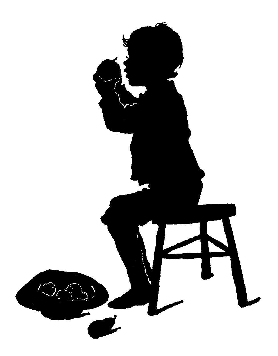 975x1248 Digital Stamp Design Antique Boy Silhouette Digital Victorian