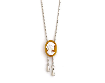 340x270 Small Cameo Necklace Etsy