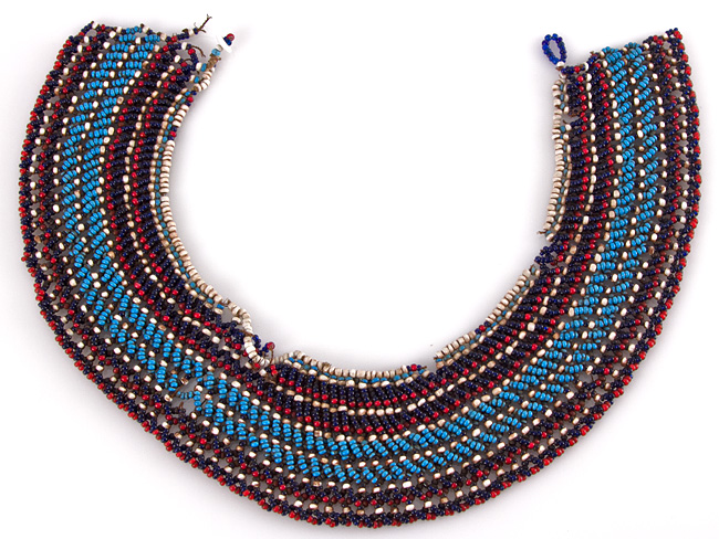 650x488 C1880 South African Zulu Beaded Necklace Parade Antiques, Shop