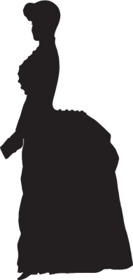 190x399 Old Fashioned Victorian Woman Silhouette Variation 2 By Martmel