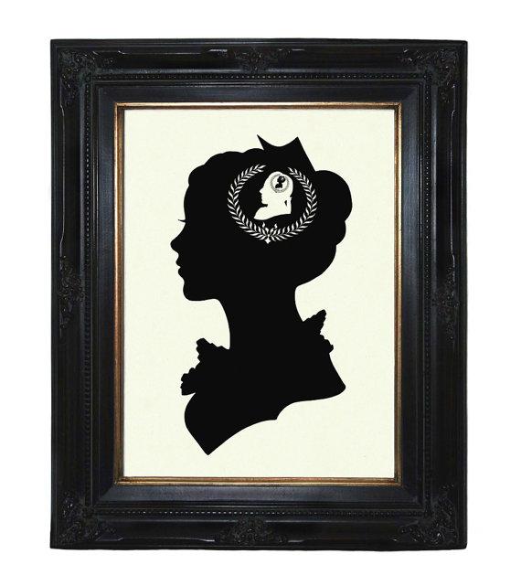 570x641 Silhouette Girl Art Print Woman Lady Love Valentine's Day