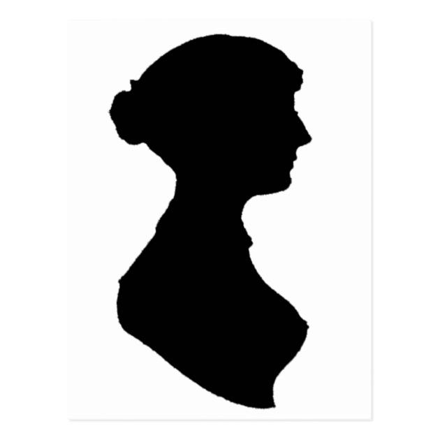 630x630 Victorian Regency Woman Silhouette Portrait Postcard