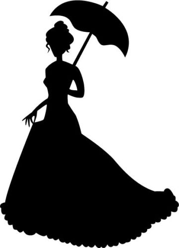 361x500 Life Size Victorian Woman Novelty Decals Vinyl Removable