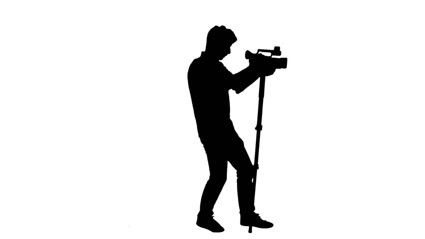 852x480 Cameraman Silhouette Recording Video