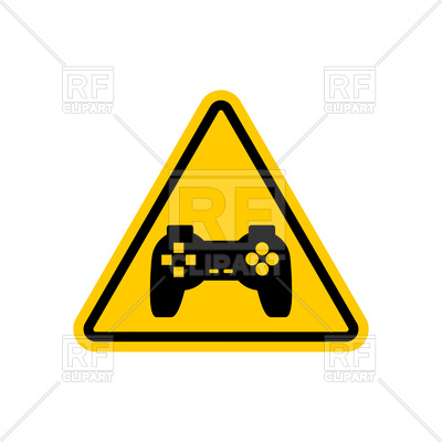 400x400 Attention Video Games Sign Royalty Free Vector Clip Art Image