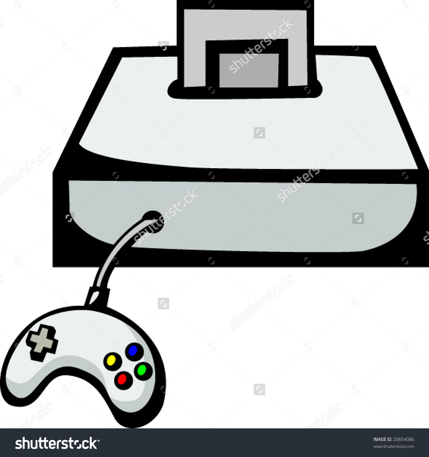 1500x1595 Game Console Clipart Black