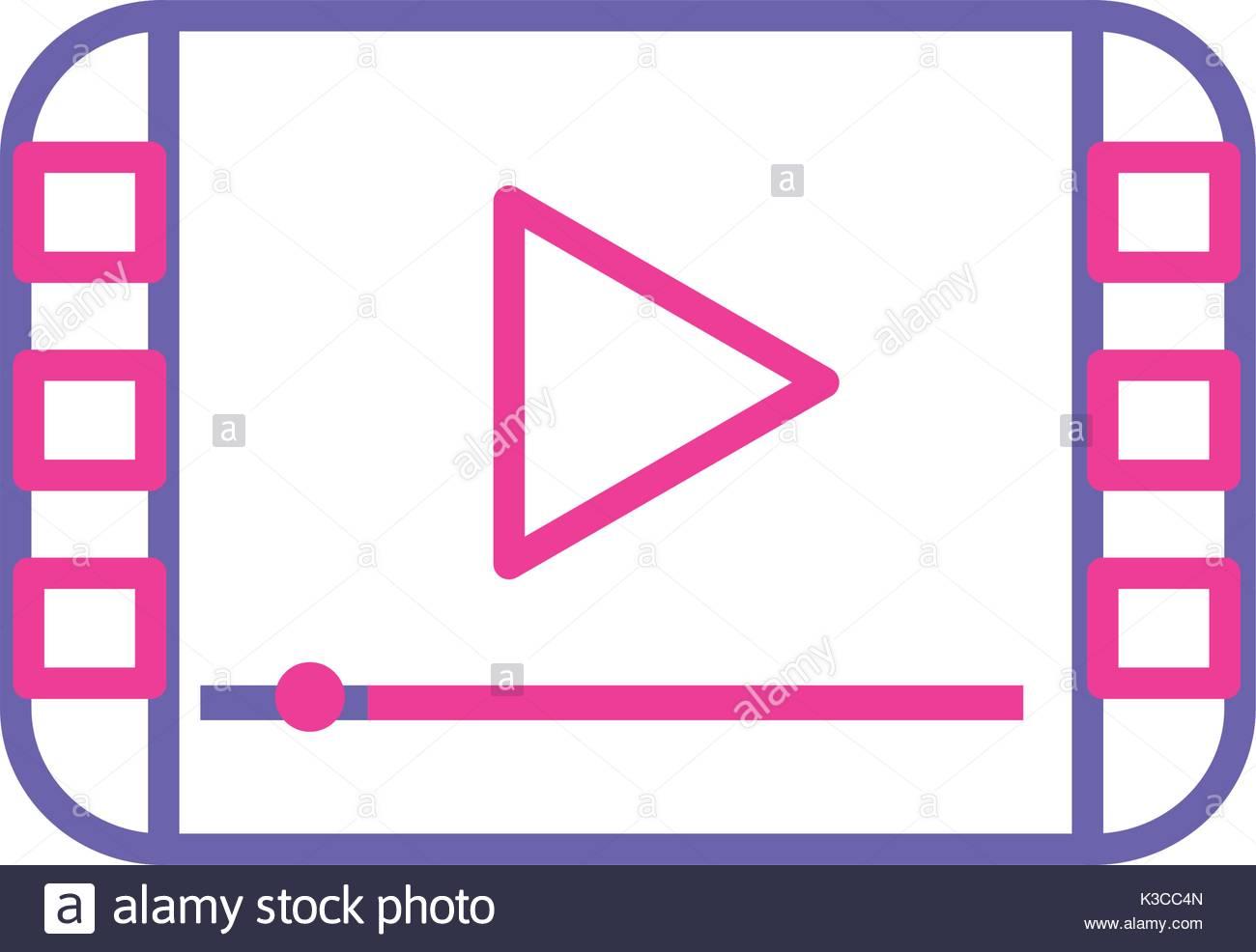 1300x986 Silhouette Video Digital Play Media Screen Stock Vector Art