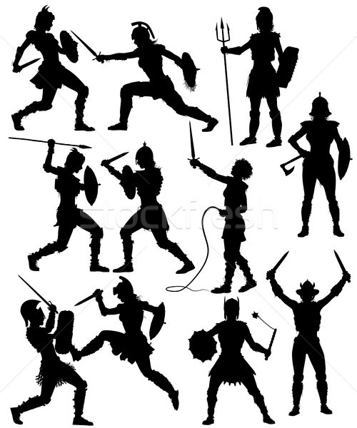 500x600 Gladiator Stock Vectors, Illustrations And Cliparts Stockfresh