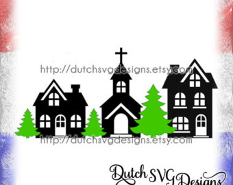 340x270 Cutting file village, in Jpg Png SVG EPS DXF for Cricut