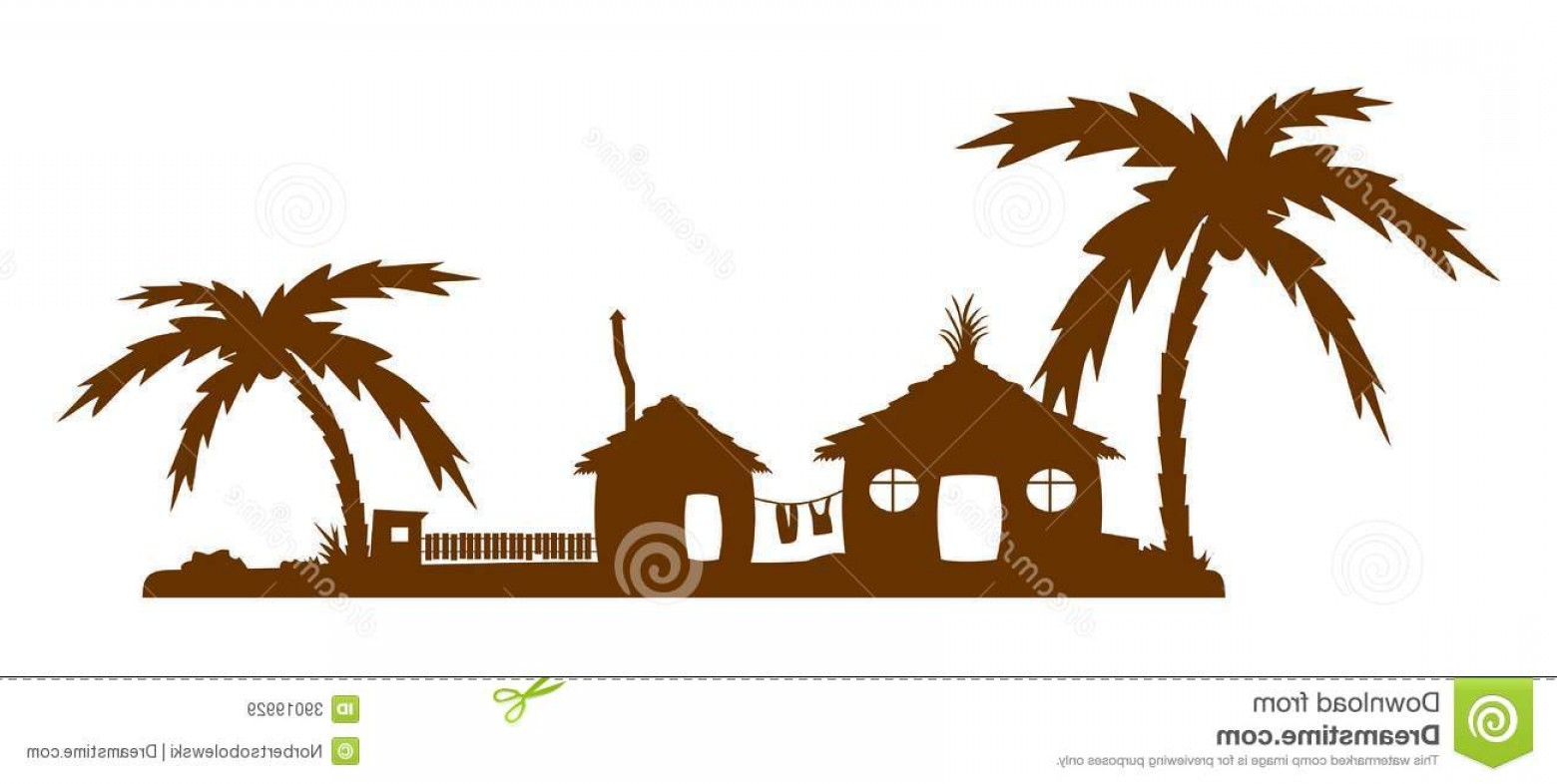 1560x786 Royalty Free Stock Images Tropical Village Silhouette Buildings