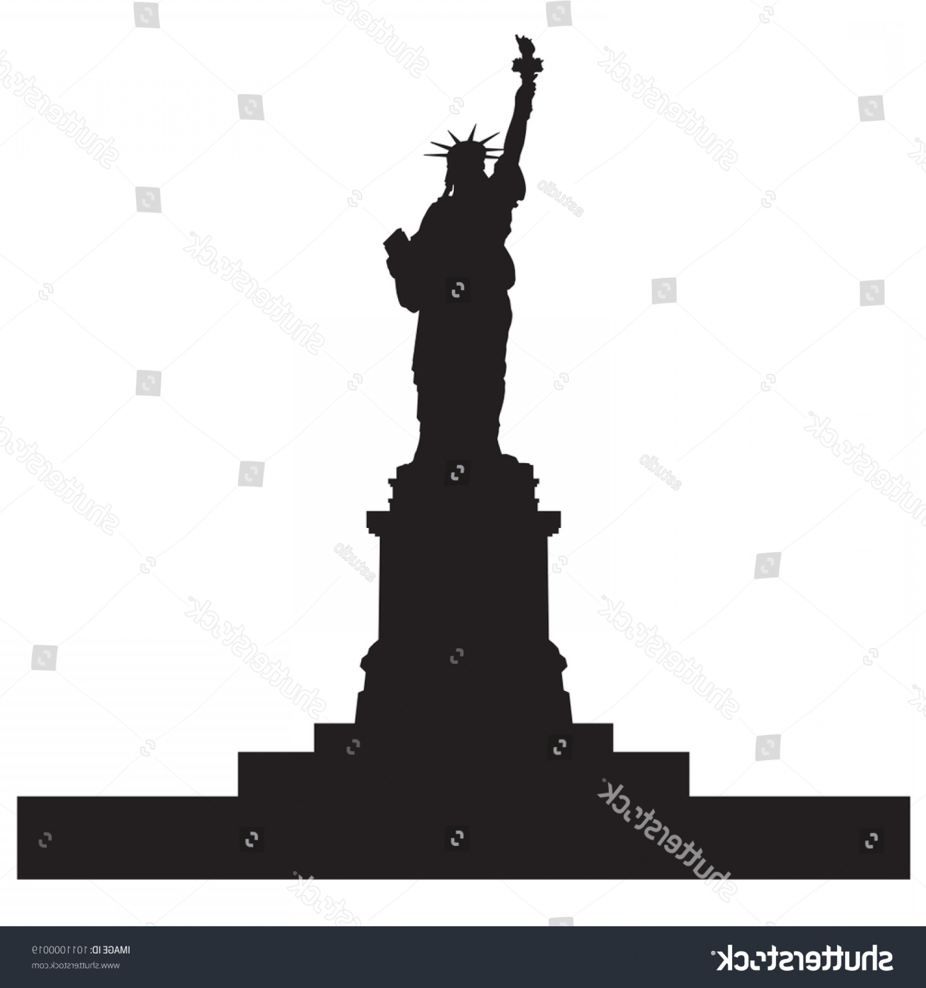 1800x1920 Statue Liberty Nyc Black Silhouette Vector Geekchicpro