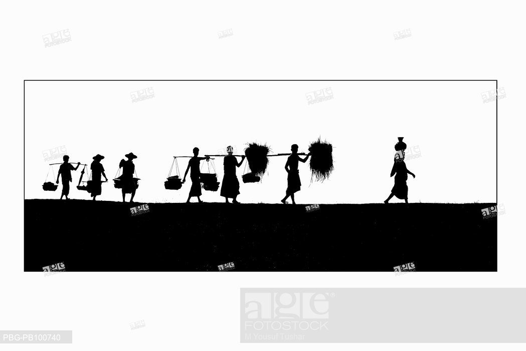 1049x699 A Silhouette Of Rural People A Village In Sylhet, Bangladesh 2006