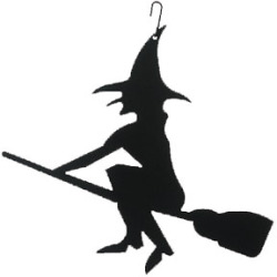 250x250 Cheap Village Wrought Iron Witch Silhouette Hos 26