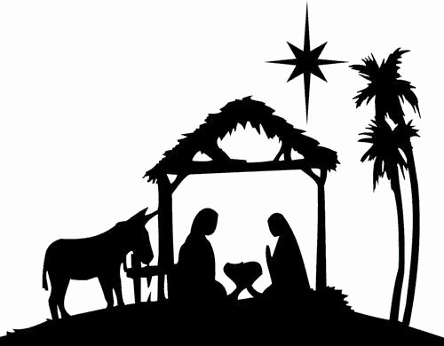 500x390 Christmas town Silhouette Awesome Christmas Village Silhouette