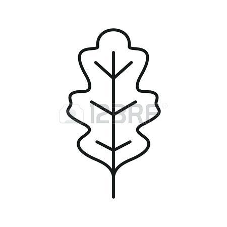 450x450 Oak Leaf Outline Printable Free To Use Clip Art Resource Leaf
