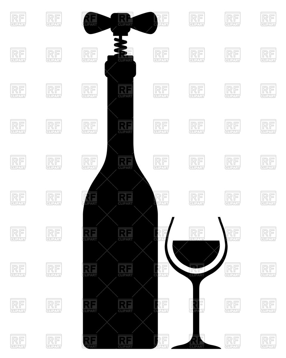 960x1200 Silhouette Of Wine Bottle With Corkscrew