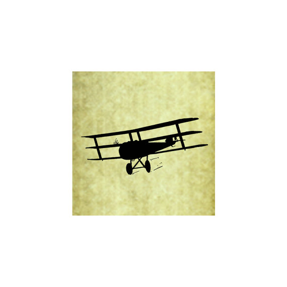 570x570 Biplane Rubber Stamp Prop Plane Old Vintage Airplane Silhouette