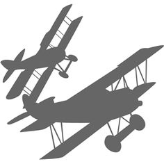 236x236 Vintage Airplanes Silhouettes Stock Photo