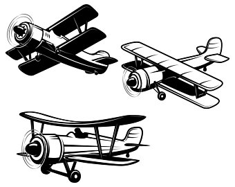 340x270 Airplane Vector Etsy