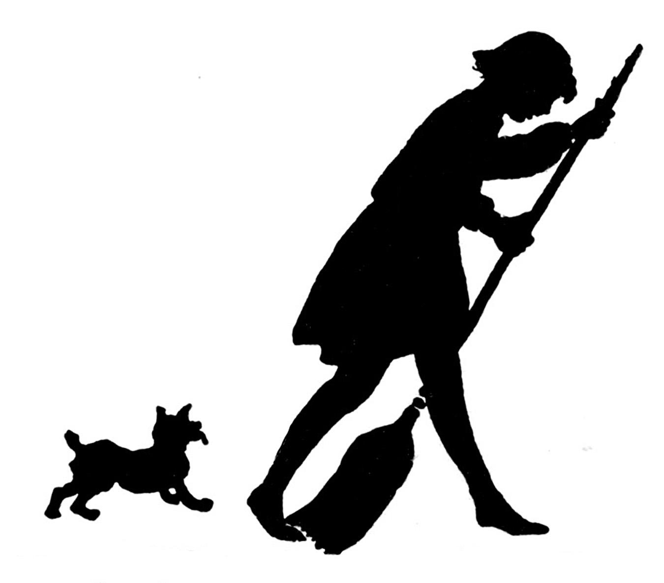 1350x1185 Vintage Girl Silhouette Clip Art