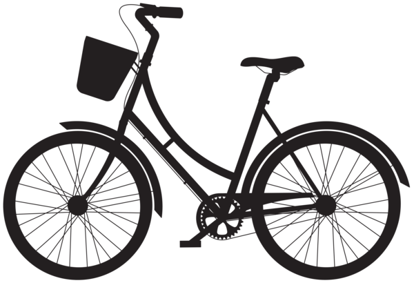 600x410 Free Vintage Bicycle Silhouette Clipart