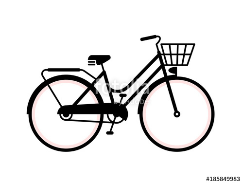 500x378 Vintage Bicycle Silhouette. Simple Vector Illustration Of A Old