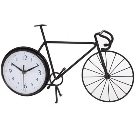 460x440 Bicycle Wall Clock Stylish Bike Silhouette Table Pertaining To 18