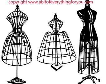340x270 Wire Dress Form Etsy