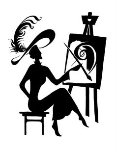 236x304 Vintage Silhouettes Of Woman