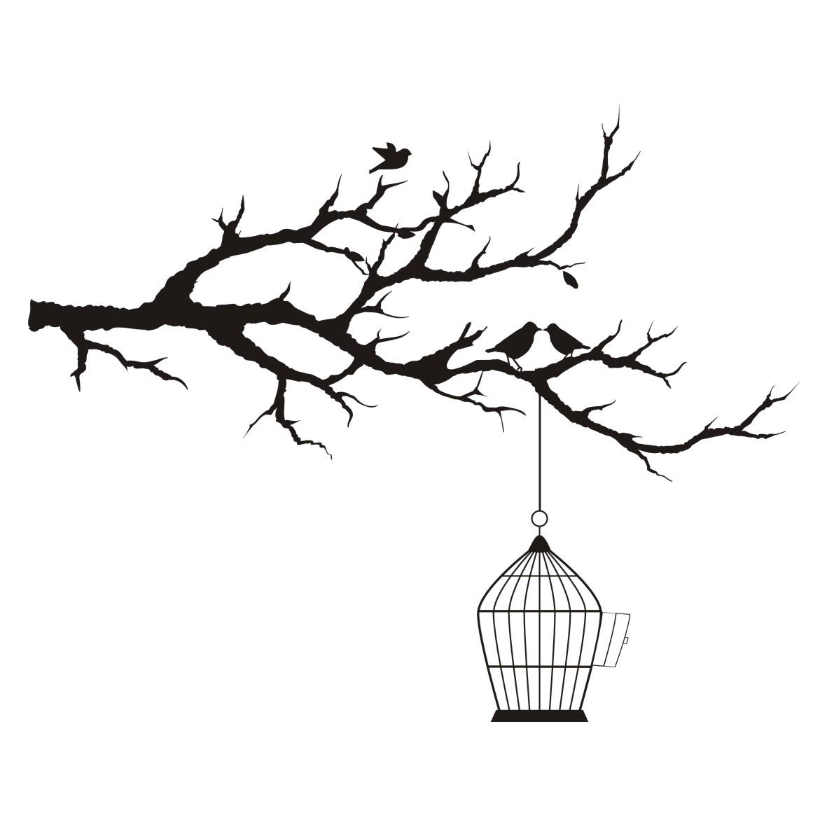 1181x1181 Drawn Birdcage Tree